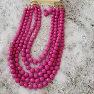 Jewelry - 🧜♀️📿 Bubbly Pink Bundle Necklace & Earring Set